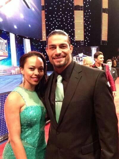 Galina Becker with Husband Roman Reigns