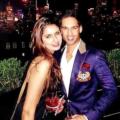Leanna Mallya with her brother Siddharth Mallya