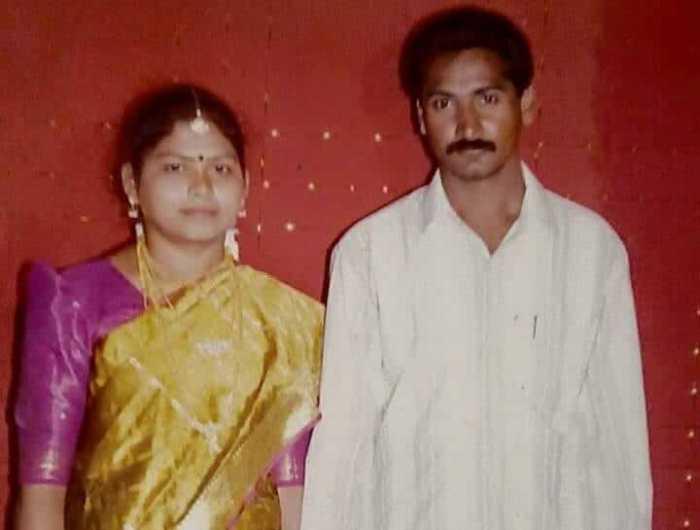 Activist Mugilan wife Poongodi Images