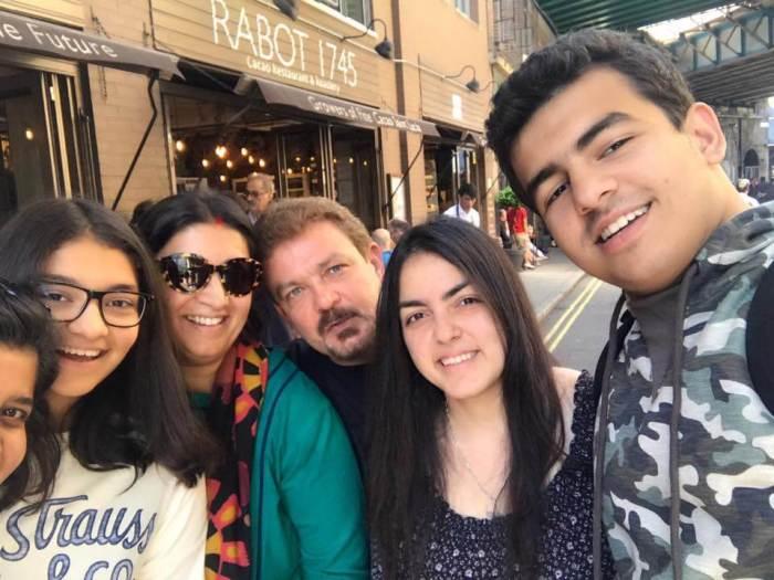 Zohr Irani Family